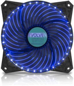 EVOLVEO ventilátor 120mm, LED 33 bodov, modrý