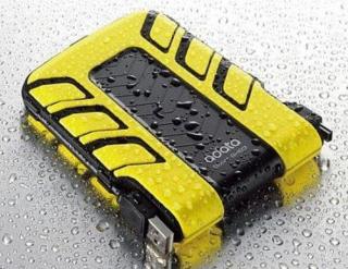 "Ext. ADATA SH93 640GB USB 2.5"", Watter/Shock Proof, žltý, odolný"