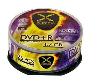 Extreme DVD+R [ cakebox 25 | 4.7GB | 16x ]