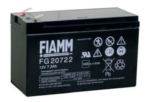 Fiamm baterie FG20722 12V/7,2Ah Faston 6,3