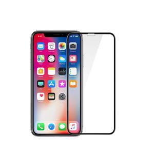 Fixed 3D ochranné tvrdené sklo Full-Cover pre Apple iPhone X/XS, s lepením cez celý displej, dustproof, čierne, 0.33 mm