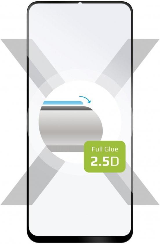 Fixed Full-Cover ochranné tvrdené sklo pre Huawei P Smart S, lepenie cez celý displej, čierne