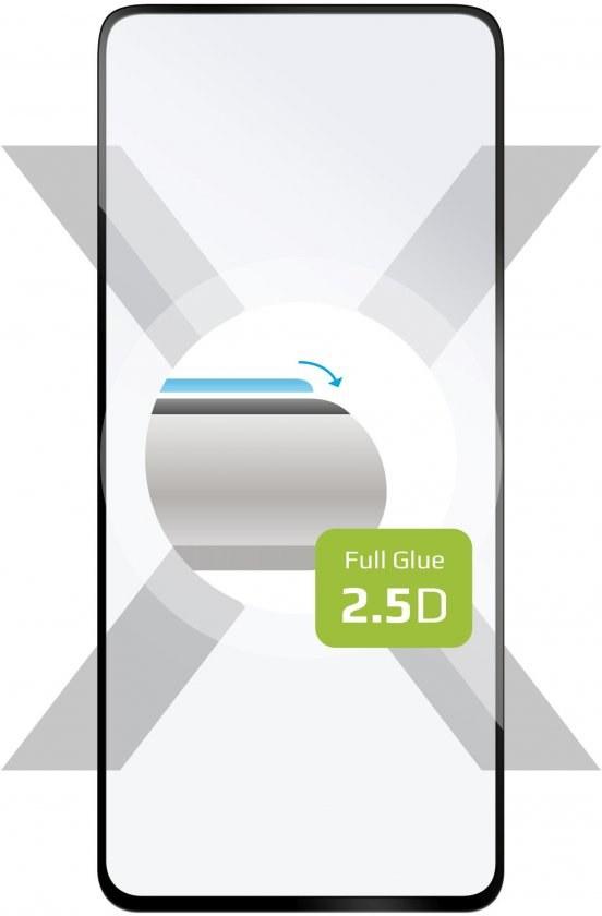 Fixed Full-Cover Ochranné tvrdené sklo pre Xiaomi Mi 10T, 10T Pro, 10T Lite, lepenie cez celý displej, čierne