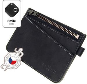 Fixed Smile Coins Kožená peňaženka so smart trackerom Fixed Smile Motion, čierna