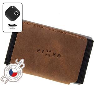Fixed Smile Tiny Kožená peňaženka Wallet so smart trackerom Fixed Smile Motion, hnedá