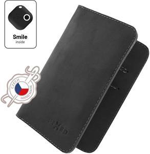 Fixed Smile Wallet XL Kožená peňaženka so smart trackerom Fixed Smile Motion, čierna