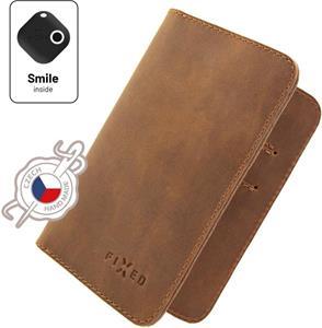 Fixed Smile Wallet XL Kožená peňaženka so smart trackerom Fixed Smile Motion, hnedá