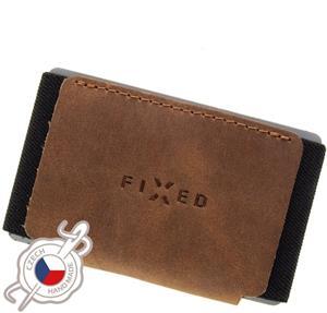 Fixed Tiny Wallet Kožená peňaženka z pravej hovädzej kože, hnedá