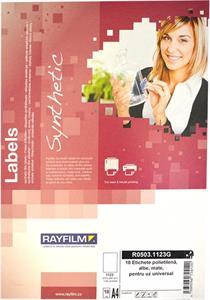 fólia RAYFILM matná biela samolepiaca polyetylenová laser/inkjet 10ks/A4