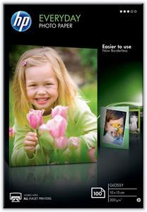 Fotopapier HP, lesklý, 200g/m2, 10x15 cm, 100ks