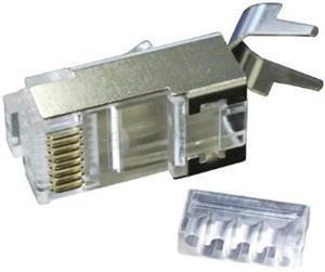 FTP sieťová koncovka, Cat6, RJ45, tienená, skladaná, na silný vodič AWG23,