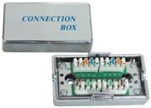 FTP sieťová spojka, Cat5, RJ45, tienená, narážacia(spoj.box)