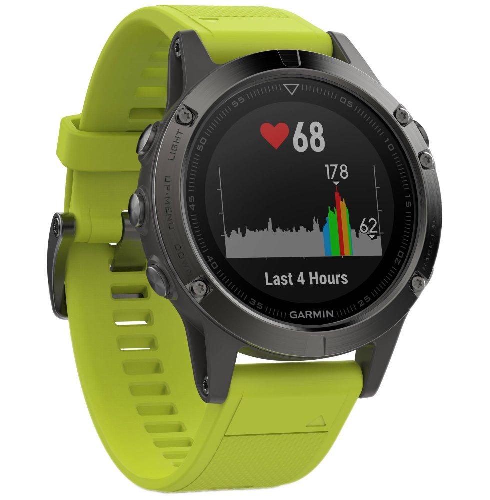 ef4fbbc5c GARMIN GPS chytré hodinky fenix5 Gray Optic, Yellow band 010-01688 ...
