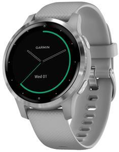 GARMIN GPS multisportovní hodinky vívoactive4S Silver/Gray Band