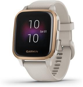 Garmin VENU SQ Music, inteligentné hodinky, krémové
