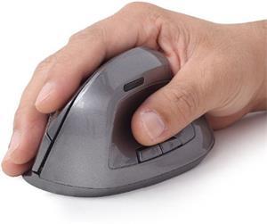 Gembird Ergonomic, bezdrôtová optická myš, sivá