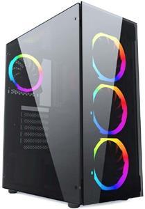 Gembird Fornax 1500RGB PC skrinka čierna