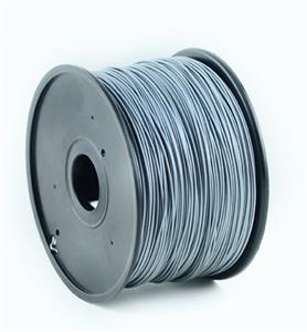 Gembird tlačová struna (filament), ABS, 1,75mm, strieborná