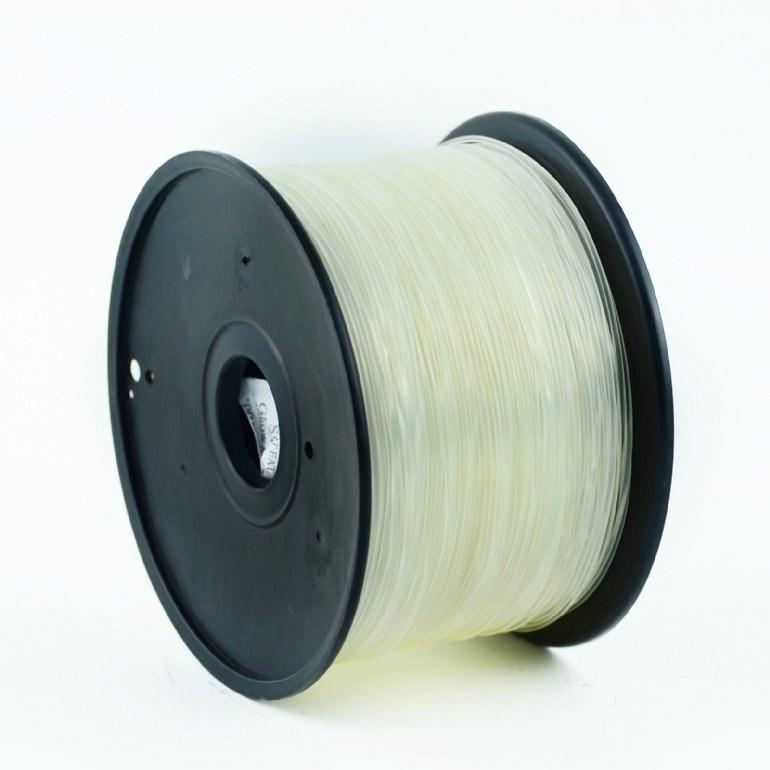 Gembird tlačová struna (filament), ABS, 1,75mm, transparentná