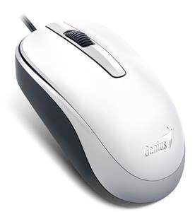 Genius DX-120, drôtová myš, 1200 dpi, USB, biela