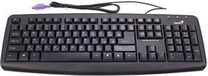 Genius KB-110X, drôtová klávesnica, PS2 čierna, cz+sk