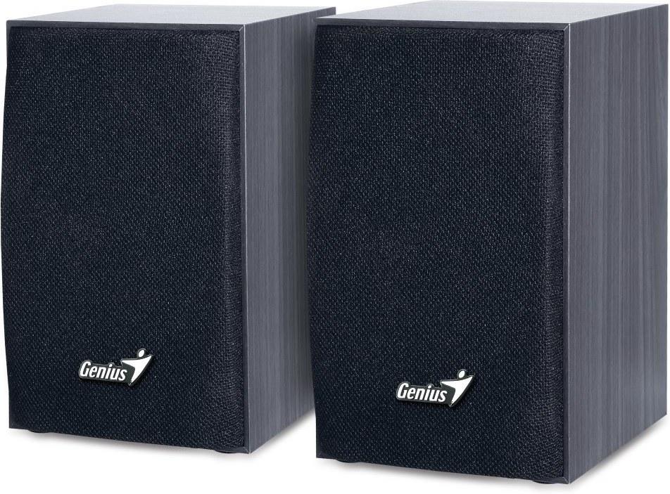 Genius SP-HF160, 2.0, 4W, reproduktory, drevené, čierne