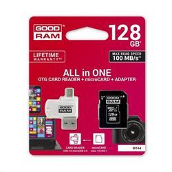 Goodram microSDHC 128GB + adaptér + čítačka