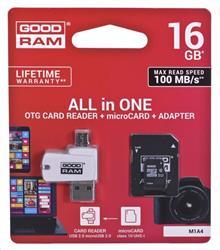 Goodram microSDHC 16GB + adaptér + čítačka