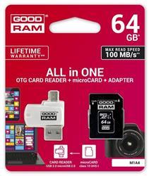 Goodram microSDHC 64GB + adaptér + čítačka