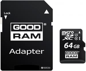 Goodram microSDXC 64GB + adaptér