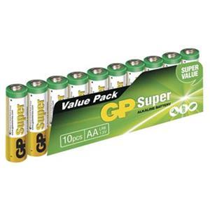 GP alkalická batéria, AA, 1.5V, fólia, 10-pack, SUPER