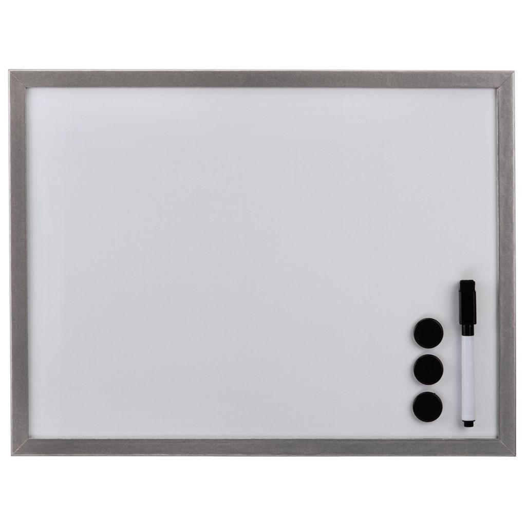 Hama biela magnetická tabuľa, 40x60 cm, drevená, strieborná