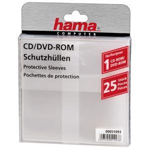 Hama CD/DVD ochranný obal, PP, 25 ks, biely