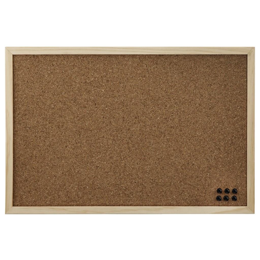 Hama korková nástenka, 29,5x39,5 cm, obojstranná, drevená, prírodná