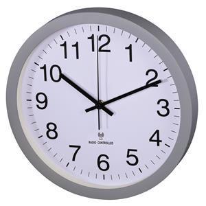 Hama PG-300, nástenné hodiny, riadené rádiovým signálom, tichý chod, šedé
