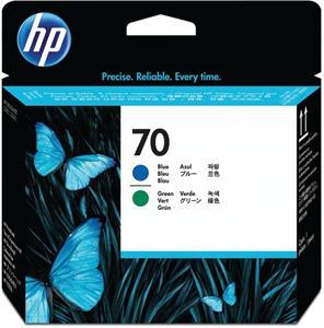 HP 70, tlačová hlava, modrá / zelená, C9408A