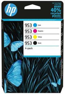 HP 953, farebné + čierna, 4 balenie