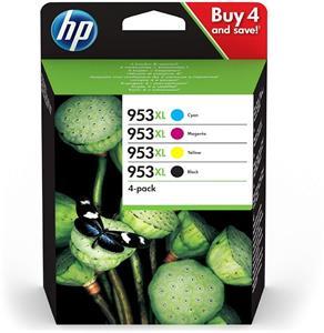 HP 953XL, farebné + čierna, CMYK, 4-balenie