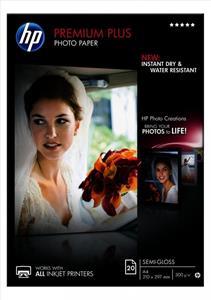HP A4 Premium Plus, 300g/m2, pololesklý, 20ks