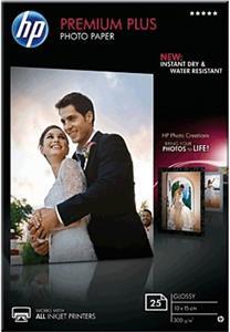HP A6 Premium Plus, 300g/m2, lesklý, 10x15 cm, 25 listov