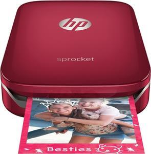 HP Sprocket Photo Printer, červená