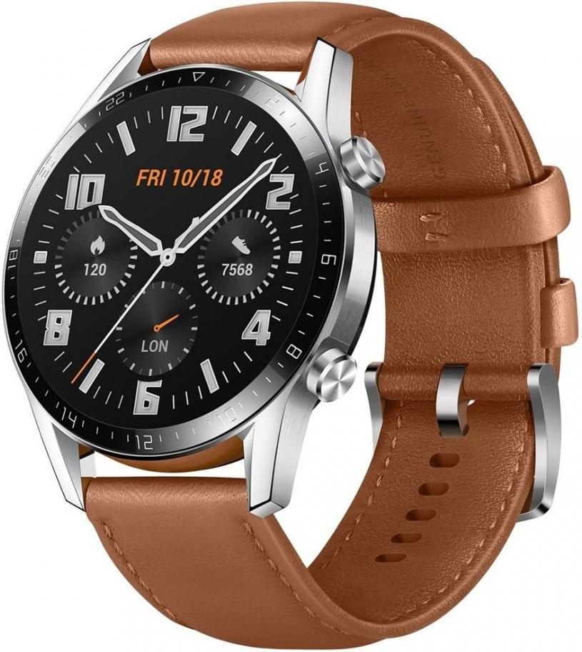 Huawei Watch GT 2, 46 mm, hnedé