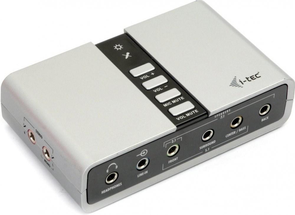 i-Tec USB Audio 7.1 USB, externá zvuková karta