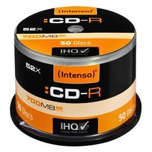 Intenso CD-R, 1001125, 50-pack, 700MB, 52x, 80min., 12cm, bez možnosti potlače, cake box, Standard, pre archiváciu dát