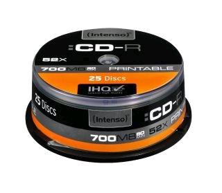 Intenso CD-R [ cake box 25 | 700MB | 52x ] Printable - Fullface