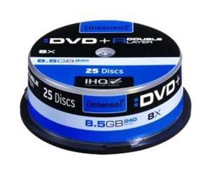 Intenso DVD+R DL [ cakebox 25   8,5GB   8x ]