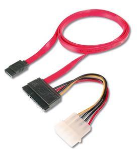 Kábel Serial ATA dátový a napájaci SATA150/300 pre HDD, 0.5m