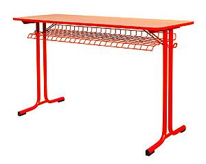 Karst Chrom školský stôl dvojmiestny, výškovo nastaviteľný