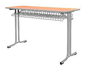 Karst školský stôl dvojmiestny, výšk. nastaviteľný bez chrómu