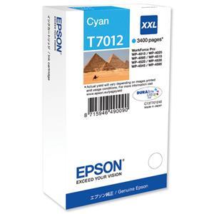 kazeta EPSON T7012 XXL Cyan WP4000/4500 series (3400 str.)